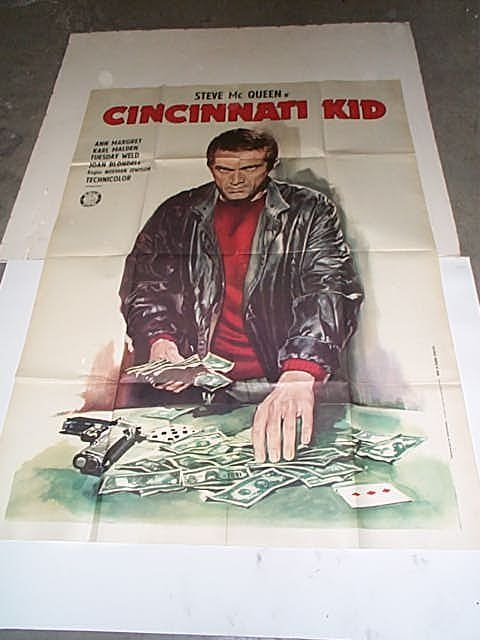"403: Original movie poster. ""Cincinnati Kid"" Steve McQu"