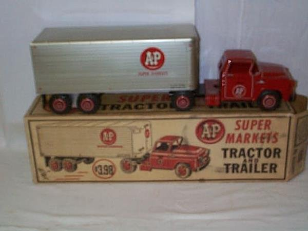 33: Lumar Tin Litho A&P Supermarkets Tractor and Traile