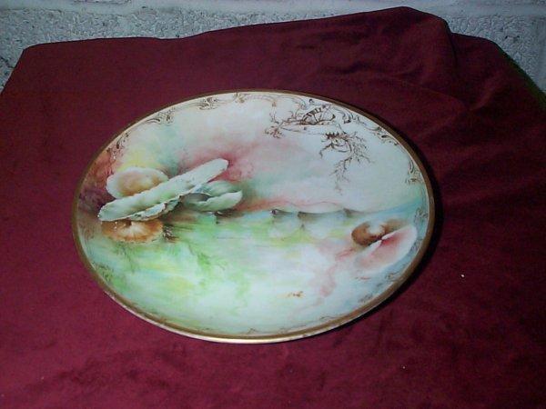 379: signed Ginori Italy hand-painted cabinet plate art