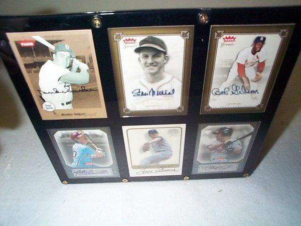 2: Lot of 6 framed original signed autographed insert b
