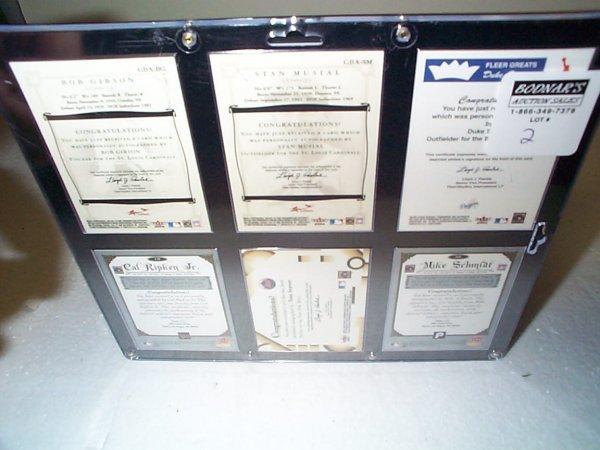 2: Lot of 6 framed original signed autographed insert b - 2