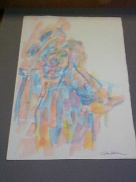 1A: Original Watercolor by Don Bloom, measures 16 1/2 i