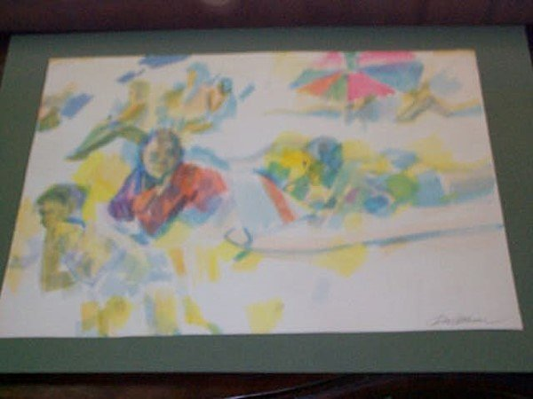 3A: Original Watercolor by Don Bloom, measures 13 3/4 i