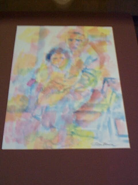 4A: Original Watercolor by Don Bloom, measures 14 in. t