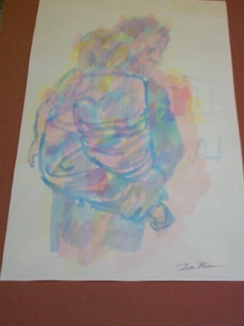 5: Original Watercolor by Don Bloom, measures 15 1/2 in