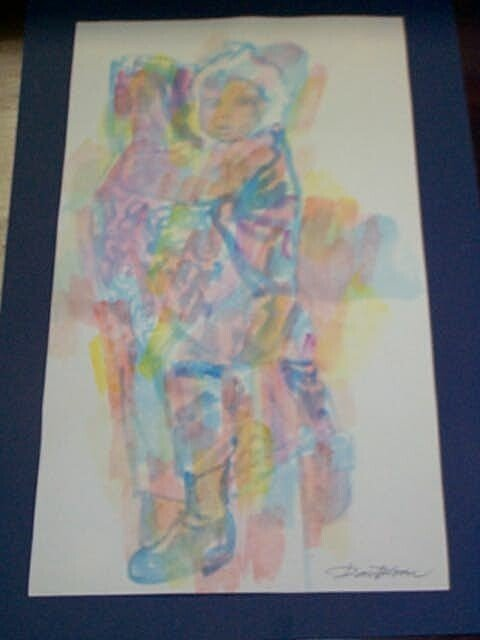 5A: Original Watercolor by Don Bloom, measures 15 1/2 i