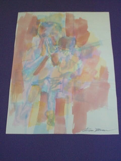 6A: Original Watercolor by Don Bloom, measures 12 in. t