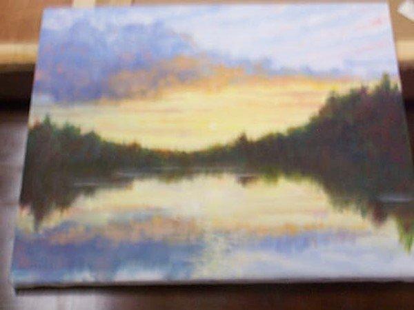10: Original oil on canvas by Darryl David Jensen, depi