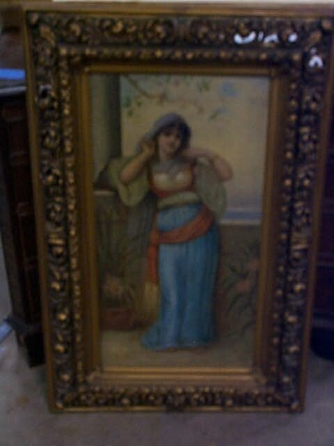 13: Original oil on canvas by E. Curhrner, depicting a