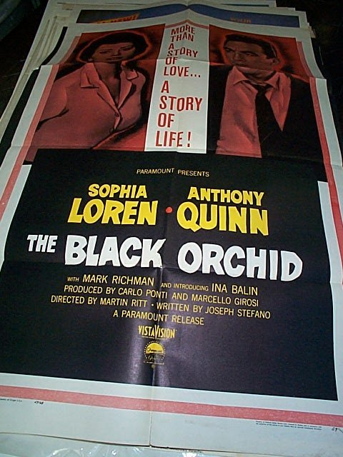 600: Original movie poster. The Black Orchid  1959  Mea