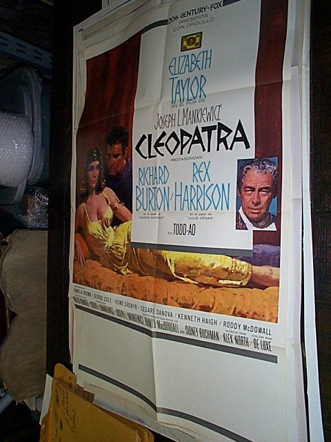 603: Original movie poster.  Cleopatra  Italian and Eng