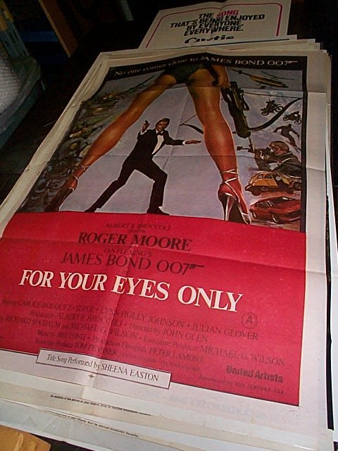 605: Original movie poster.  For Your Eyes Only  1981