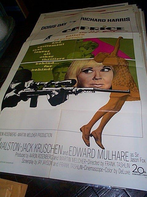 609: Original movie poster.  Caprice  1967   Measures 4
