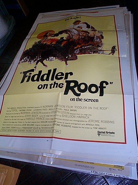 611: Original movie poster.  Fiddler on the Roof  1971
