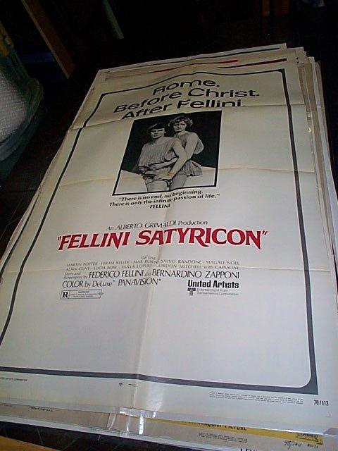 612: Original movie poster. Fellini Satyricon  1970