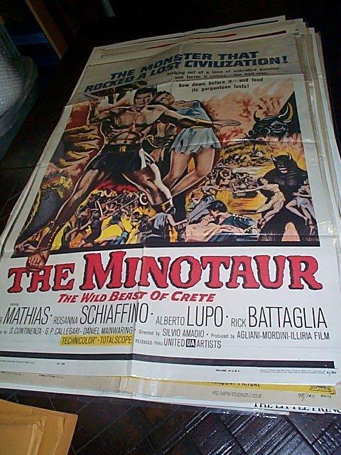 613: Original movie poster.  The Minotaur  The Wild Bea
