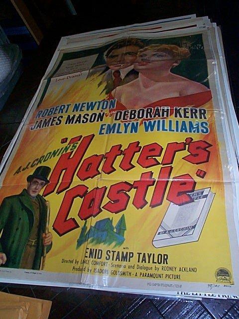 614: Original movie poster. Hatter's Castle  1948  UK