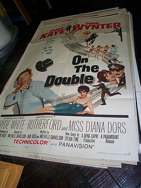 617: Original movie poster.  On The Double  1961   Meas