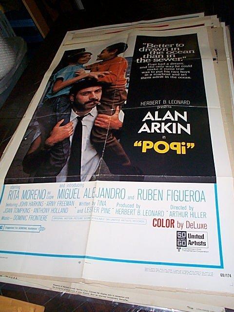 """618: Original movie poster.  """"Popi""""  1969   Measures 41"""
