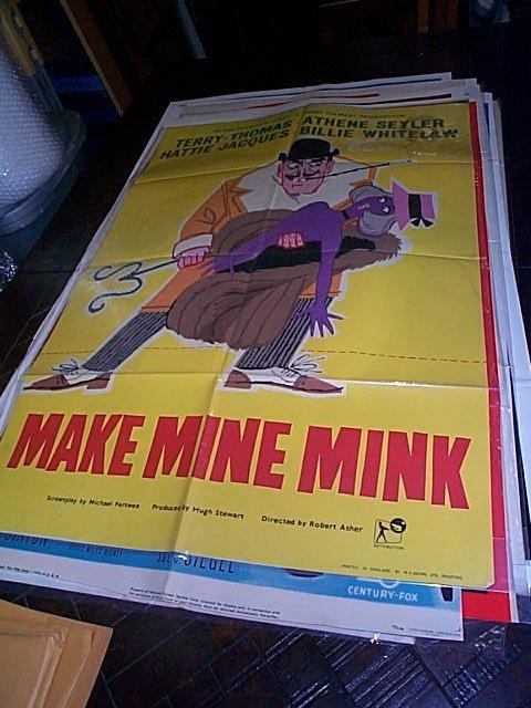 621: Original movie poster.  Make Mine Mink  1961   Mea