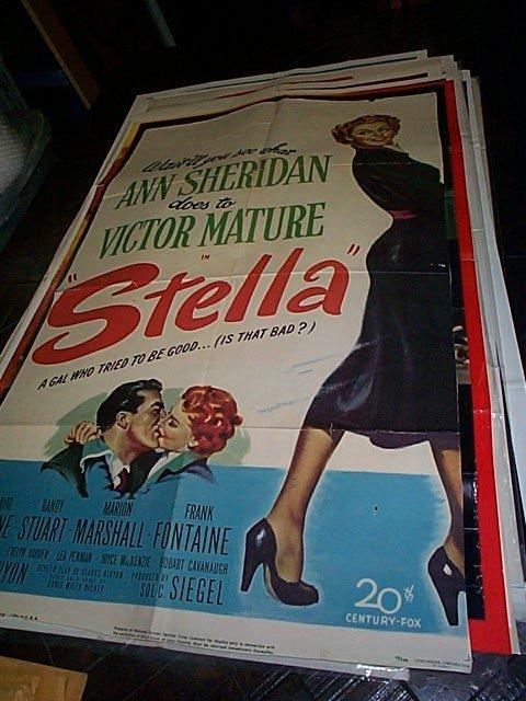 "622: Original movie poster.  ""Stella""  1950  Has been t"
