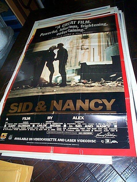 623: Original movie poster.  Sid & Nancy  1986   Measur