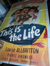 656: Original movie poster.  This is the Life  1943  3