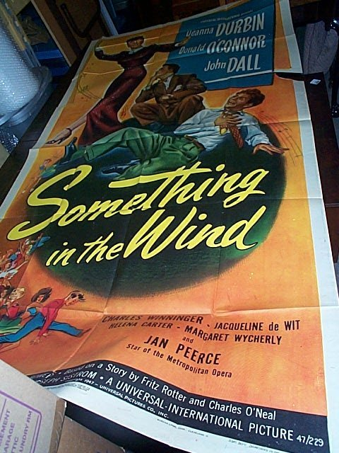 684: Original movie poster.  Something in the Wind  194