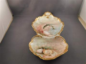 Limoges Fish Plate/Oyster Server