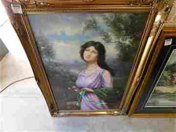 Oil on Canvas Victorian Woman