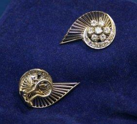 18k WG Clip On Diamond Earrings; 30D = 1.80ct; 9.