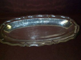 """900 Colombian Silver Serving Dish  Measures 19"""" L"""