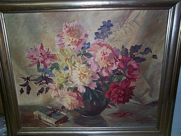 228: M. Knauer Munchen, Oil on canvas  Still life paint