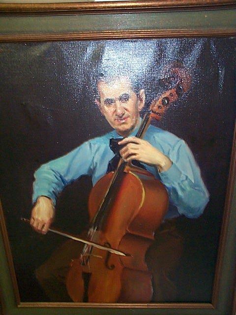235: Arthur Momands Oil on Canvas depicting a portrait