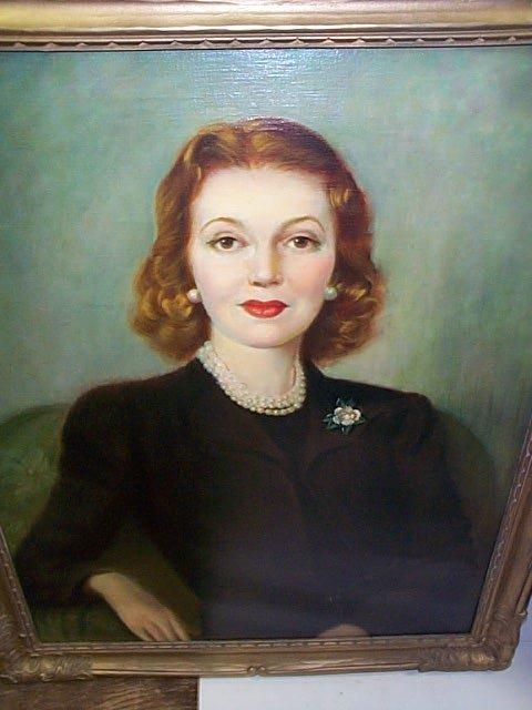 236: Arthur Momands Oil on Canvas depicting a portrait