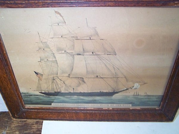 237: Early 19th Century Hand colored N. Currier Lithogr