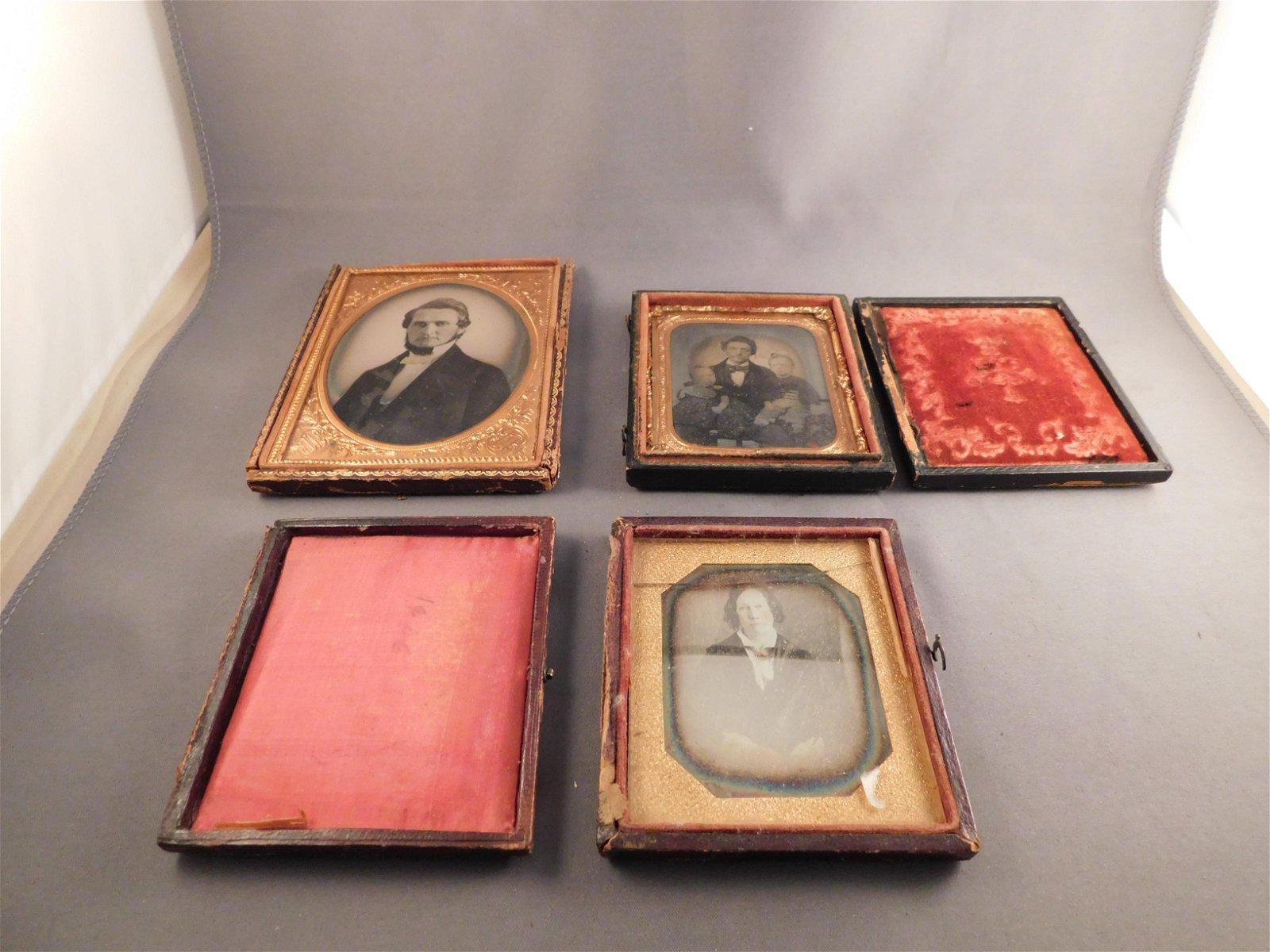 3 Ambrotypes/Daguerreotypes