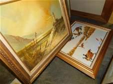 5 Framed oil on Canvas