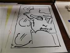 Unframed Peter Max Lithograph
