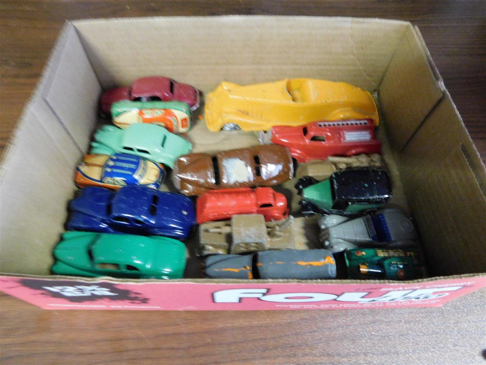 Lot of 1940's Metal Cars