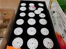 Large Lot of Pocket Watch Faces