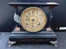 East Lake Victorian  Cast Iron Mantle Clock