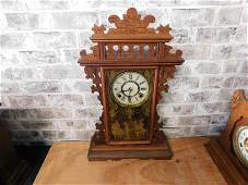 Victorian Gingerbread Mantle Clock