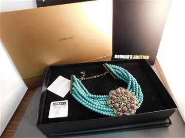 Heidi Daus Turquoise Flower Necklace