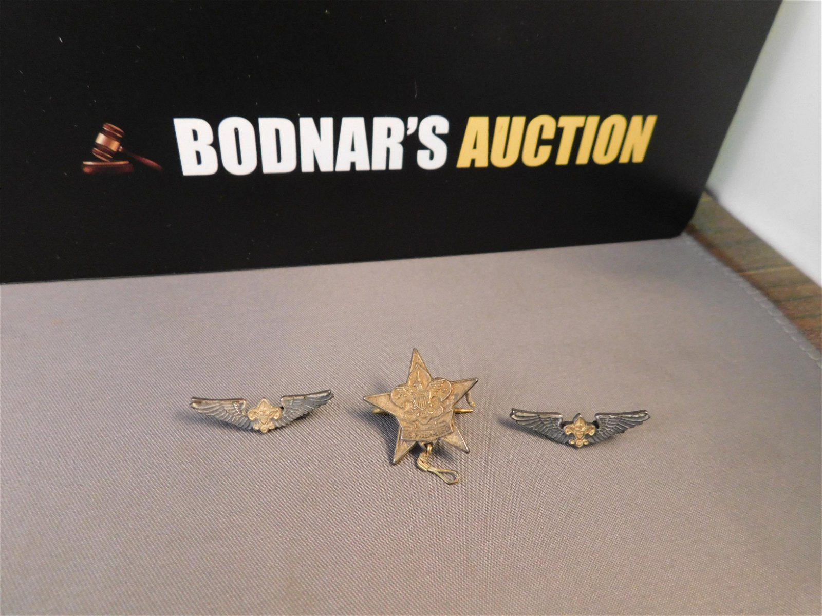 3 Sterling Boy Scout Pins