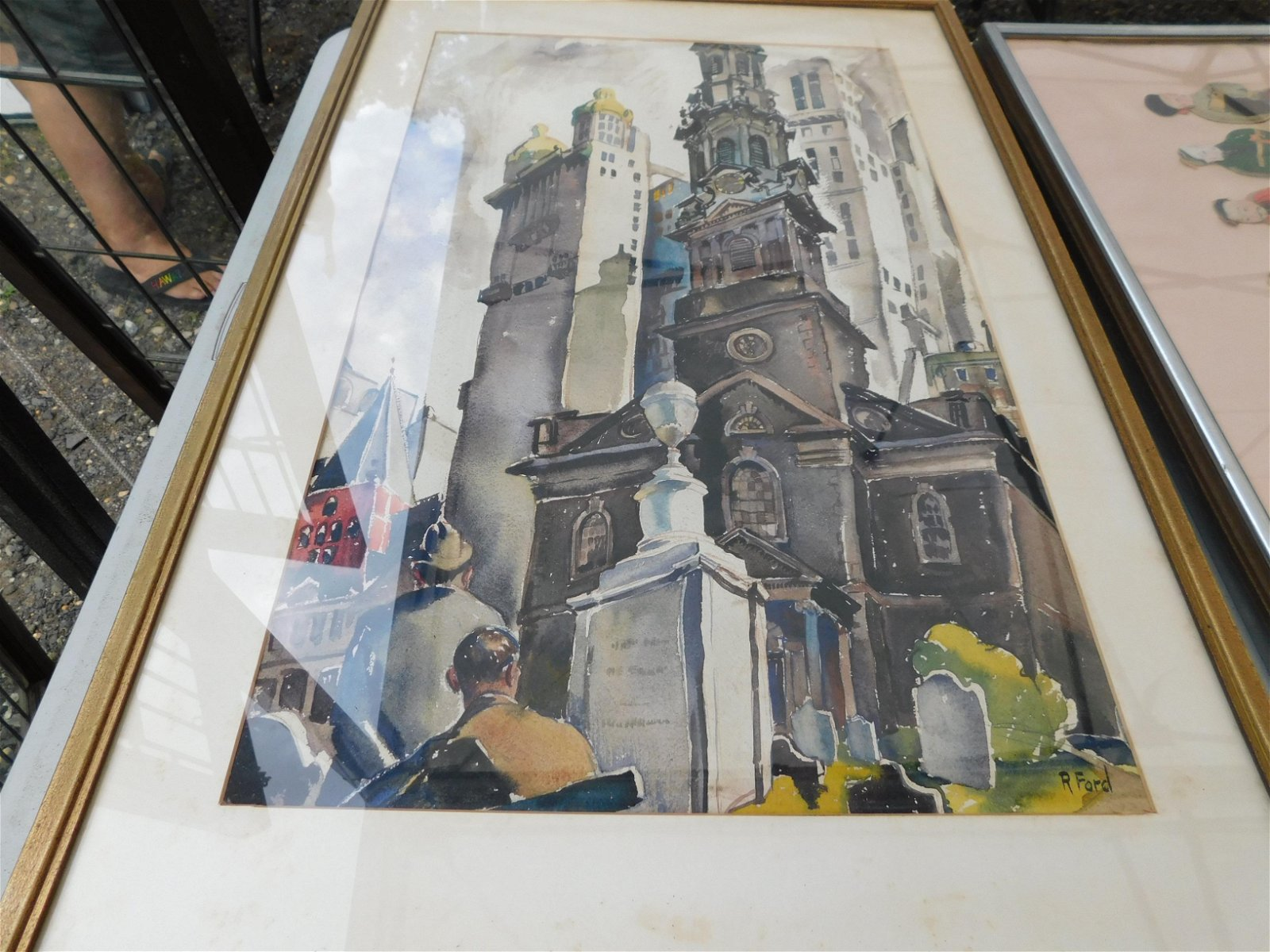 Watercolor of a Church
