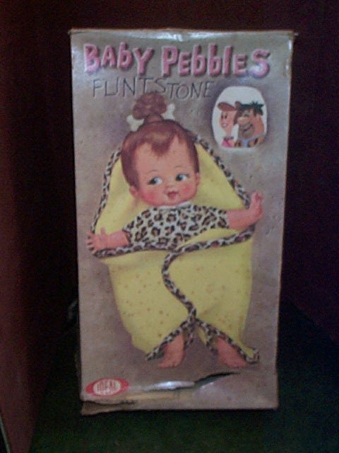 700: Ideal Baby Pebbles Flintstone Doll with original b