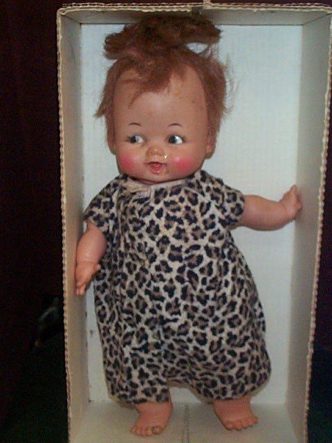 700: Ideal Baby Pebbles Flintstone Doll with original b - 3