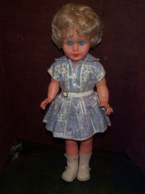 "715: 1970""s Plastic doll signed Drei-M-Puppe  1300/42"