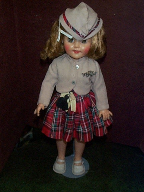 716: Ideal Shirley Temple Doll # 15-N in Scottish outfi